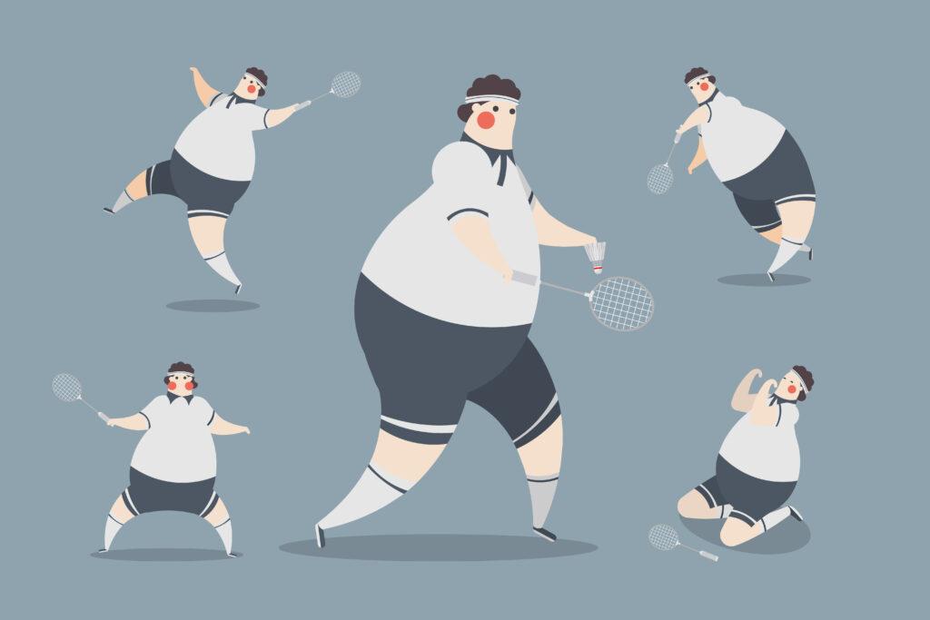 Badminton Men Character Design